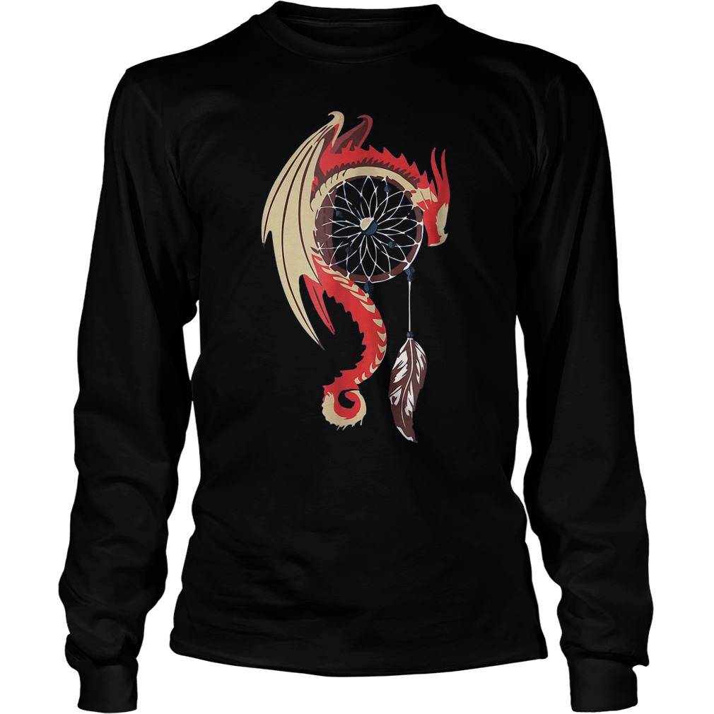 Dream Catcher Dragon T-Shirt Unisex Longsleeve Tee