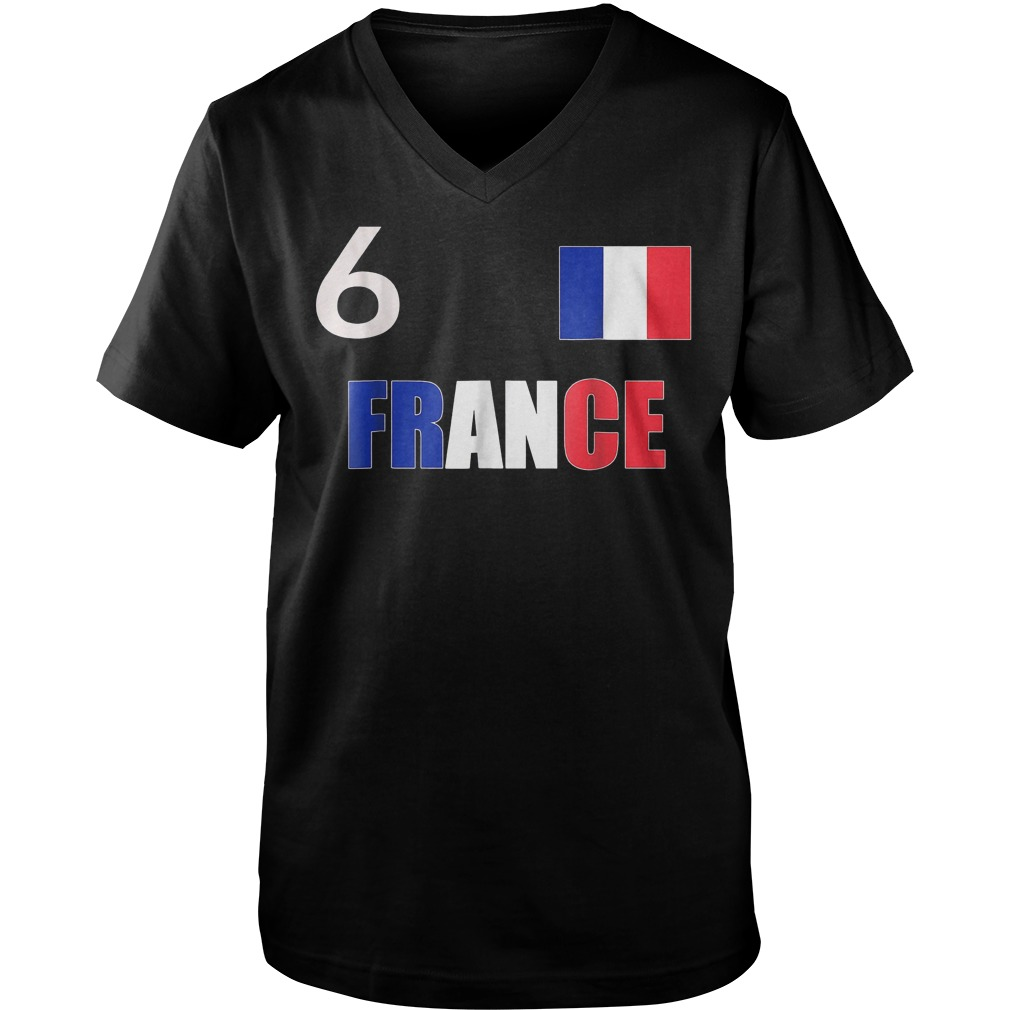 France World Final Soccer World Cup 2018 T-Shirt Guys V-Neck