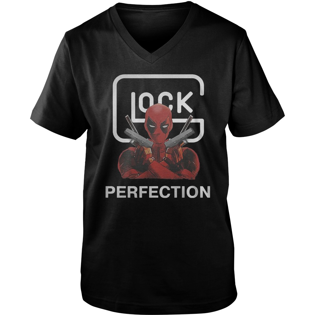 Glock Deadpool Perfection T-Shirt Guys V-Neck