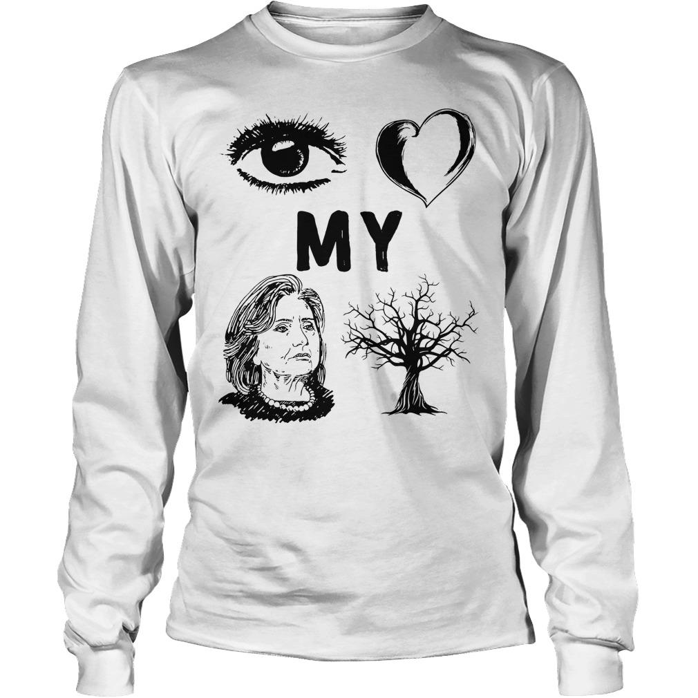I Love My Country Hillary Clinton T-Shirt Longsleeve Tee Unisex