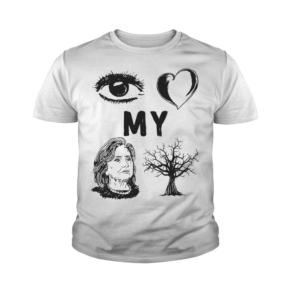I Love My Country Hillary Clinton T-Shirt Youth Tee