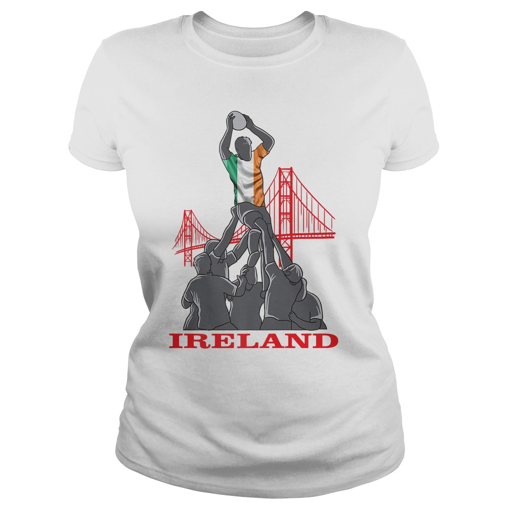 Ireland Rugby Sevens 2018 Champions Rugby World T-Shirt Classic Ladies Tee