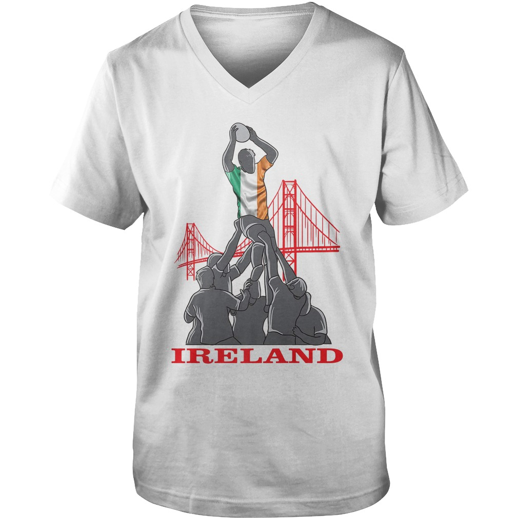 Ireland Rugby Sevens 2018 Champions Rugby World T-Shirt Guys V-Neck