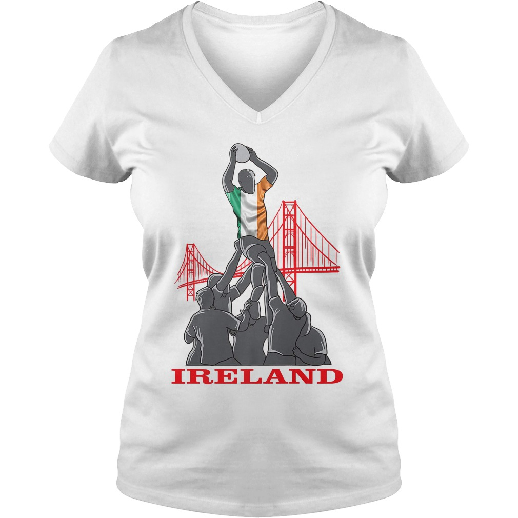 Ireland Rugby Sevens 2018 Champions Rugby World T-Shirt Ladies V-Neck