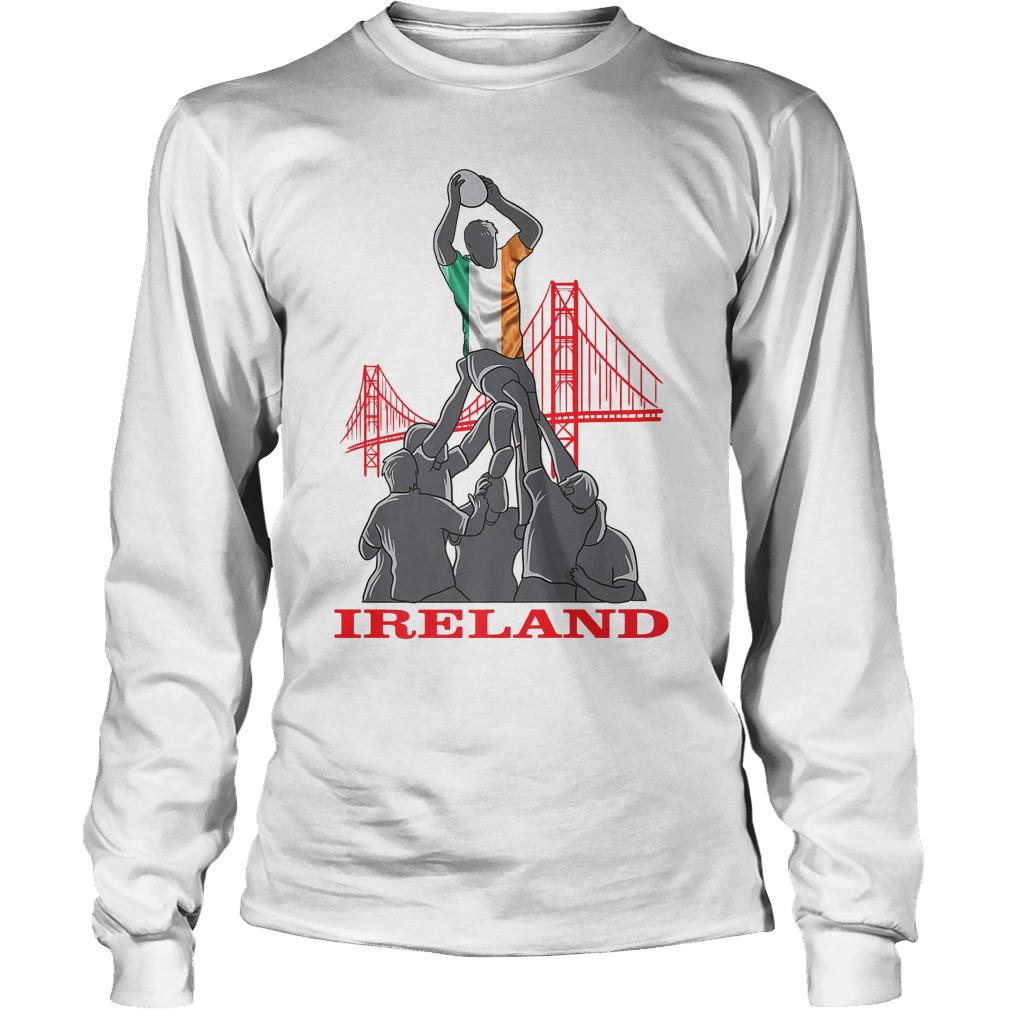 Ireland Rugby Sevens 2018 Champions Rugby World T-Shirt Longsleeve Tee Unisex