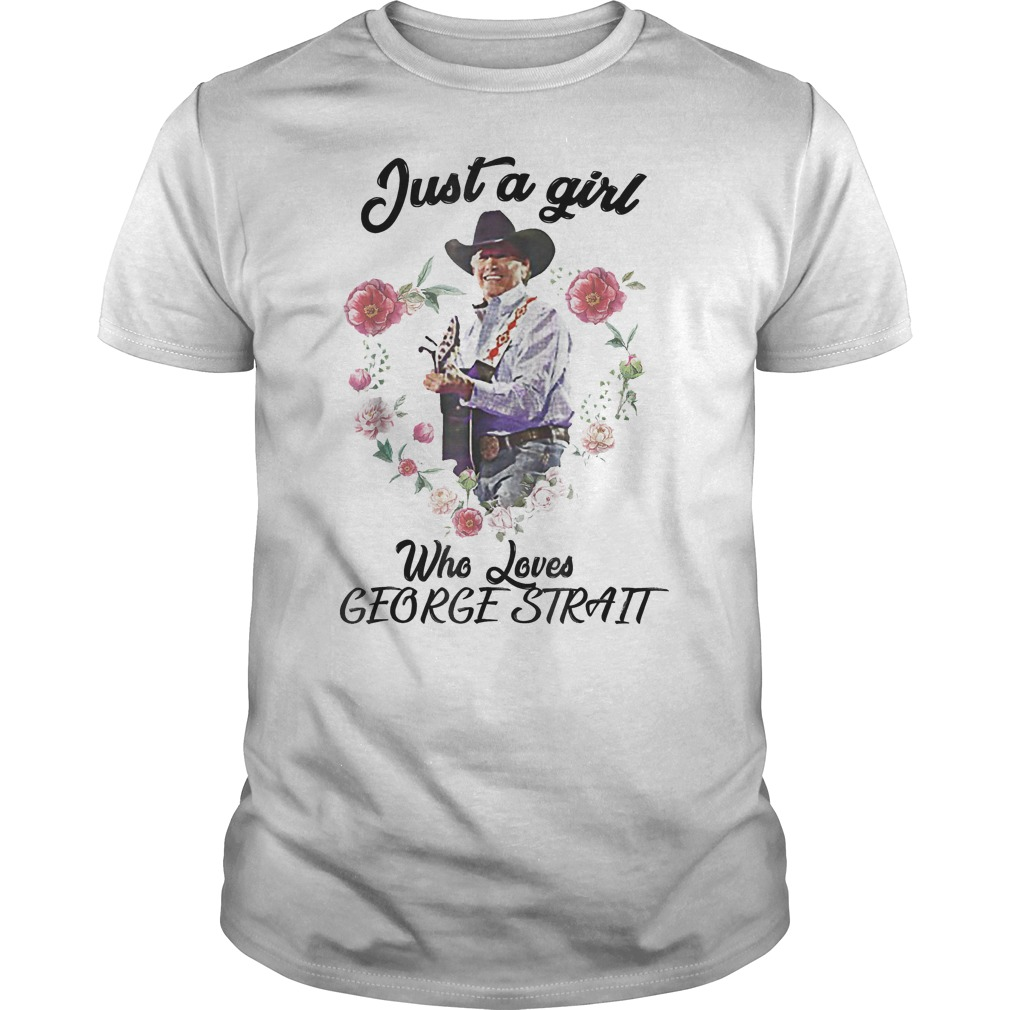 Just A Girl Who Loves Music Guitar Singing George T-Shirt Classic Guys / Unisex Tee