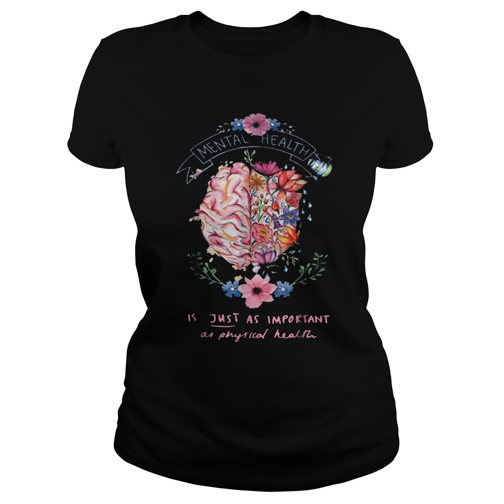Just Physical Health Floral T-Shirt Classic Ladies Tee