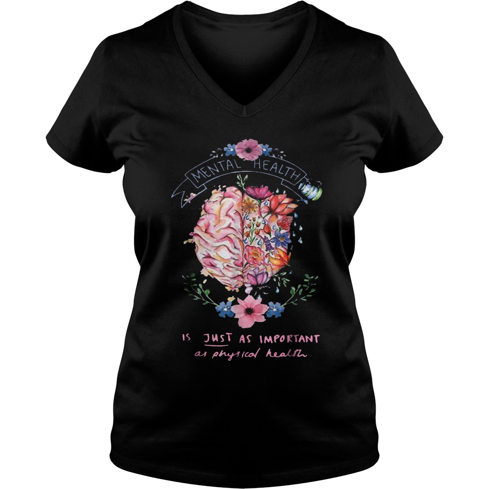 Just Physical Health Floral T-Shirt Ladies V-Neck
