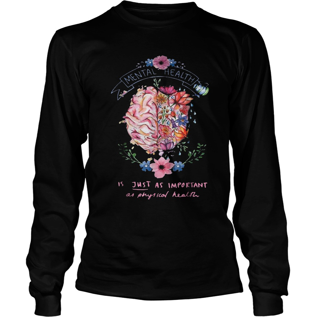 Just Physical Health Floral T-Shirt Longsleeve Tee Unisex