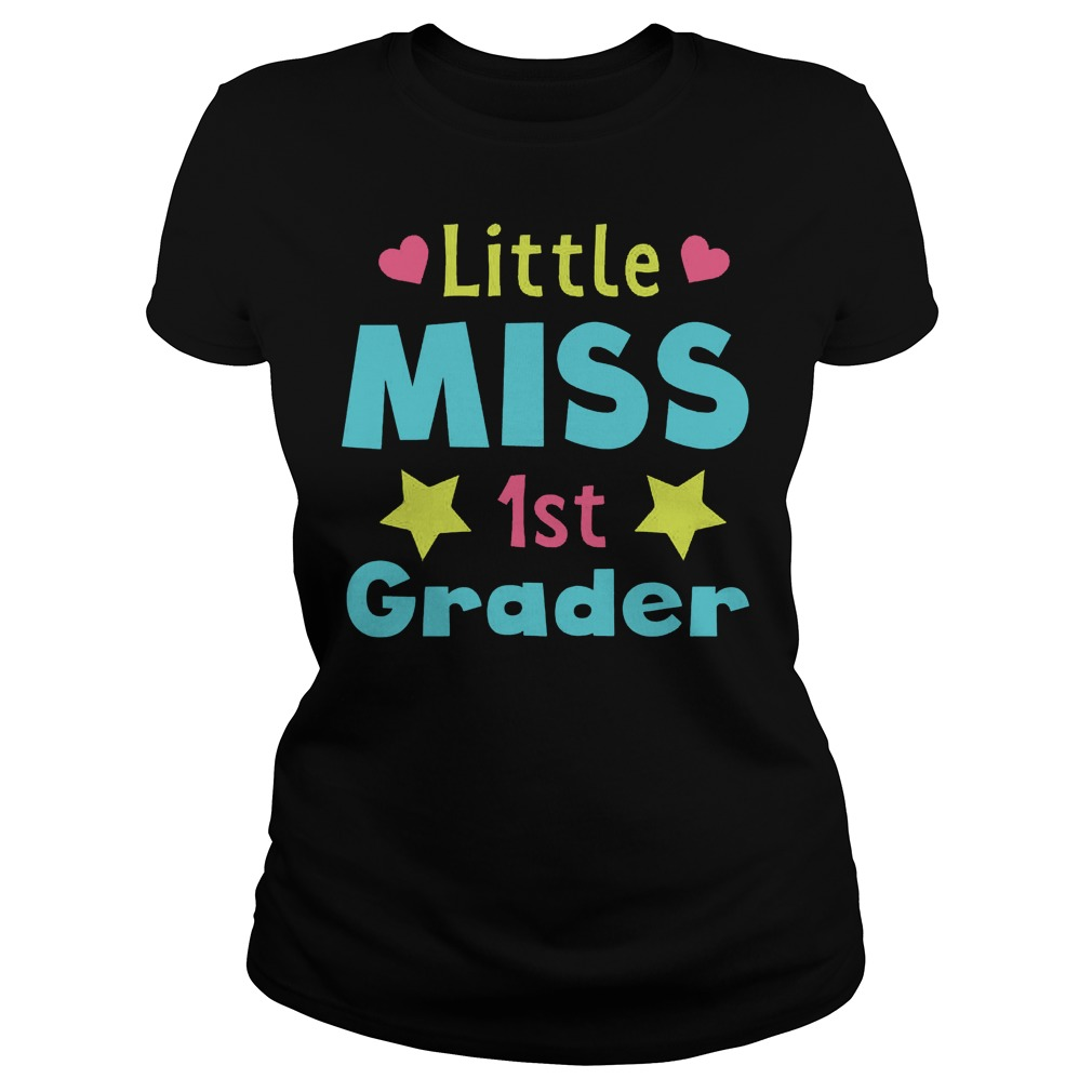 Official Little Miss 1st Grader T-Shirt Classic Ladies Tee