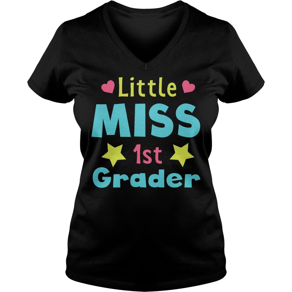 Official Little Miss 1st Grader T-Shirt Ladies V-Neck