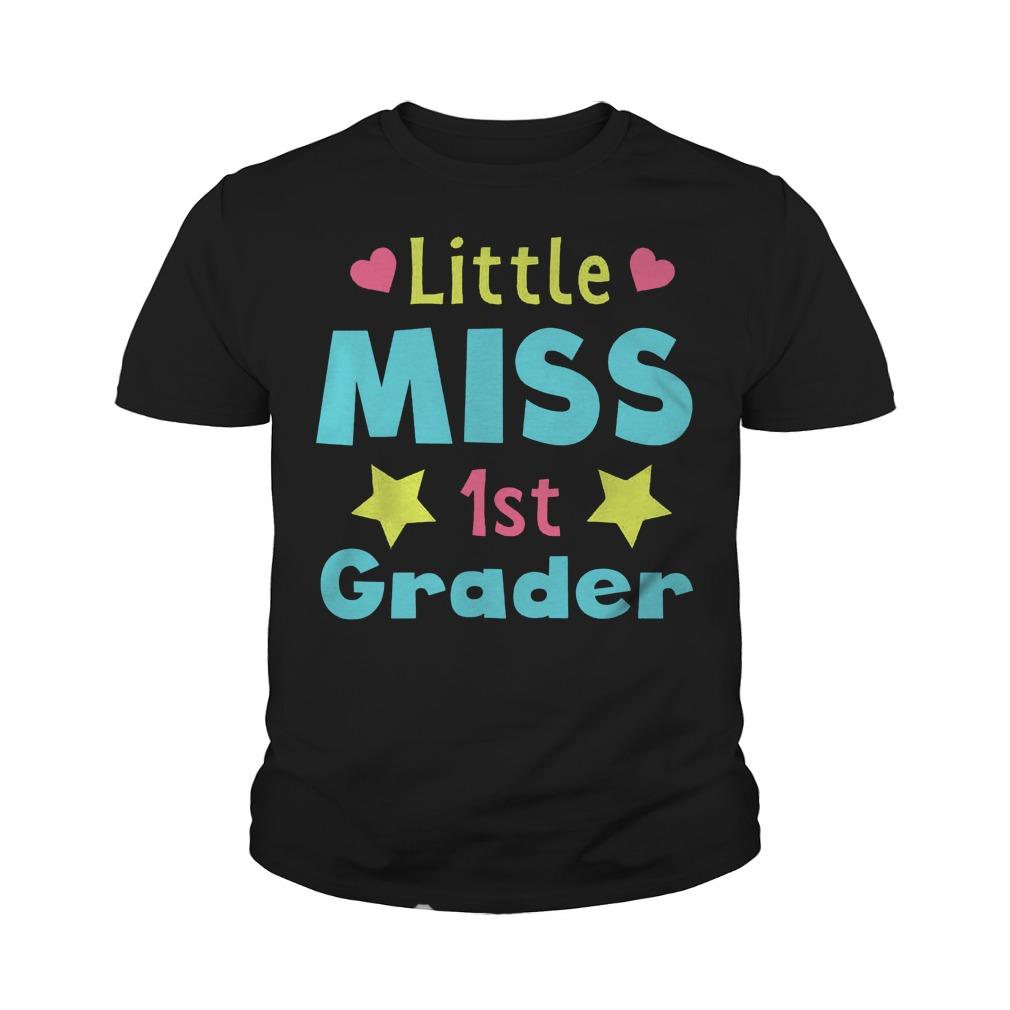 Official Little Miss 1st Grader T-Shirt Youth Tee
