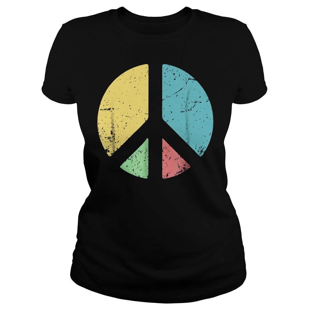 Peace Sign Love T-Shirt Classic Ladies Tee