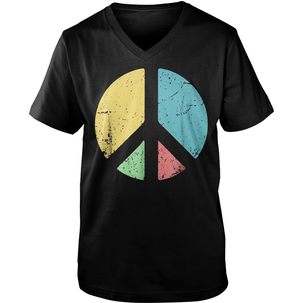 Peace Sign Love T-Shirt Guys V-Neck
