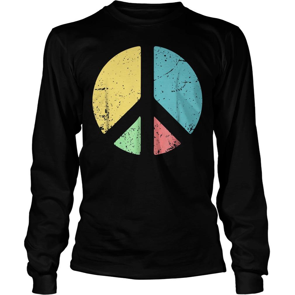 Peace Sign Love T-Shirt Longsleeve Tee Unisex