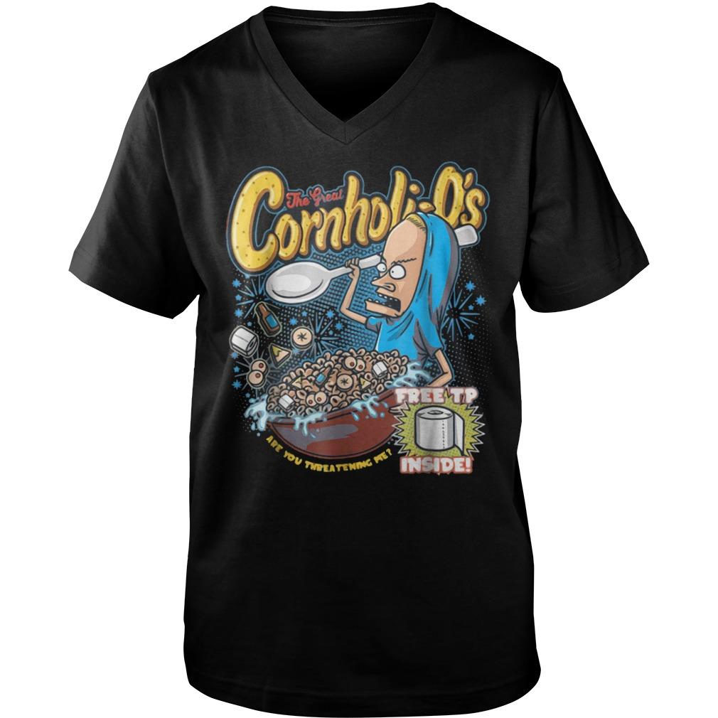 Premium Cornholi-O's T-Shirt Guys V-Neck