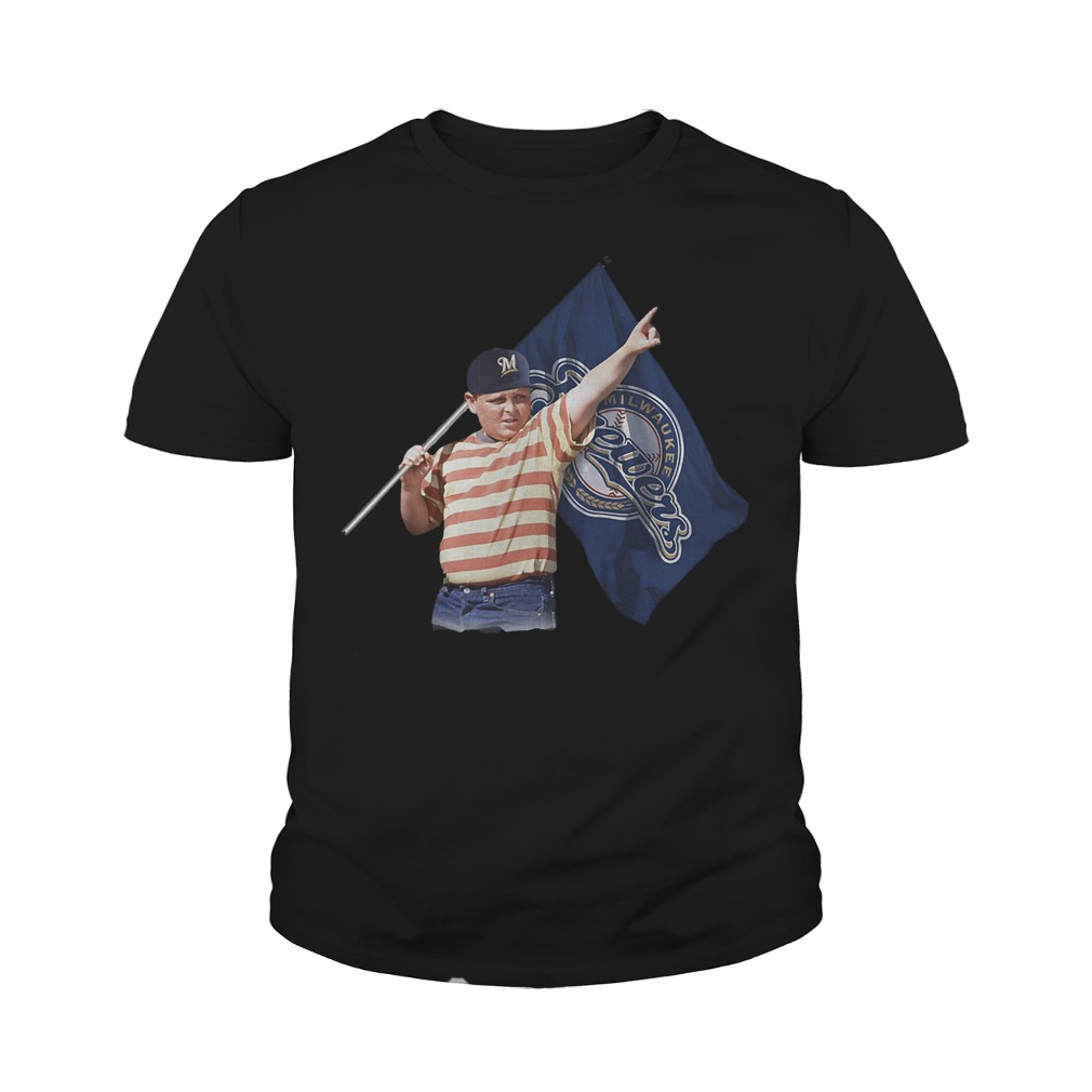 The Sandlot Hold Milwaukee Brewers Flag T-Shirt Youth Tee