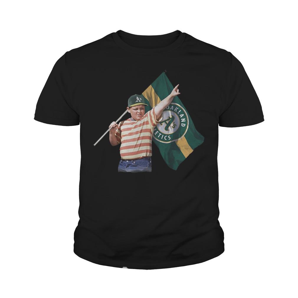 The Sandlot Hold Oakland Athletics Flag T-Shirt Youth Tee