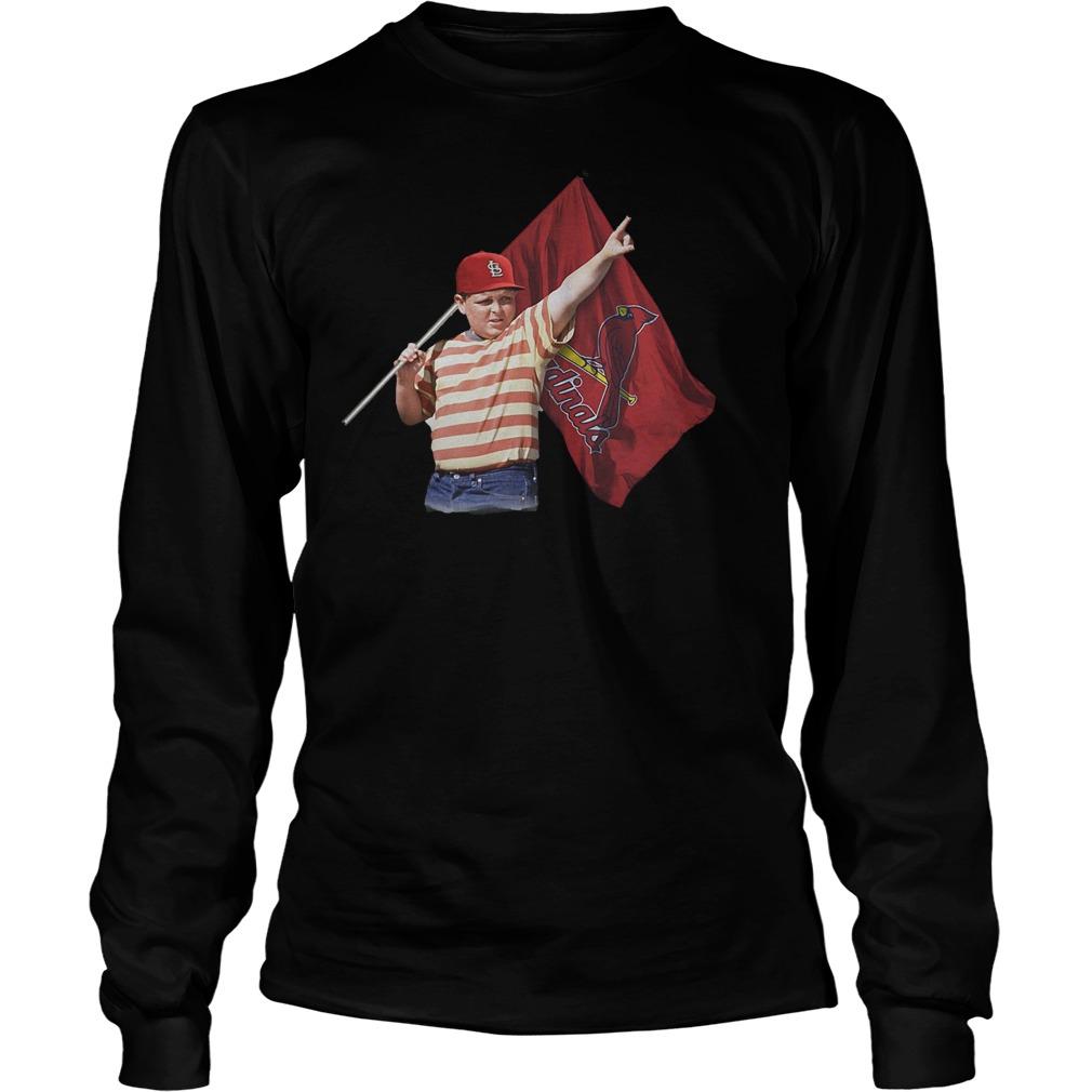 The Sandlot Hold St Louis Cardinals Flag T-Shirt Longsleeve Tee Unisex
