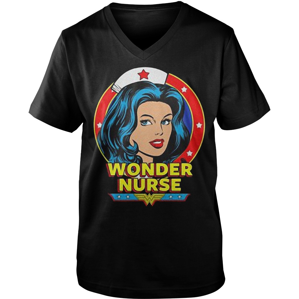 Wonder Nurse T-Shirt Guys V-Neck