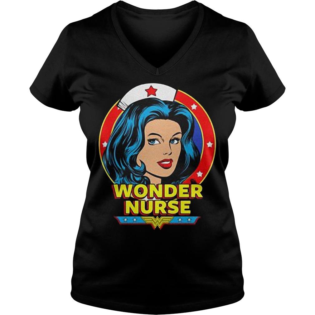 Wonder Nurse T-Shirt Ladies V-Neck