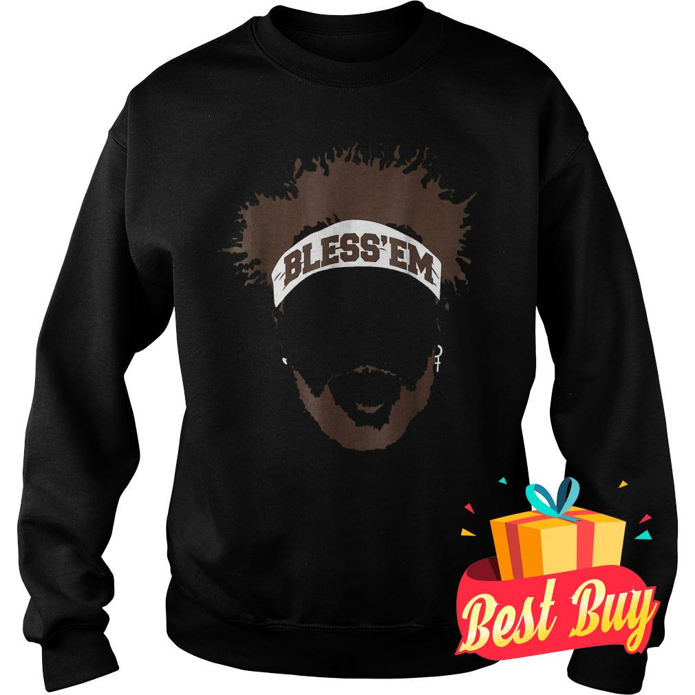 Best Price Bless Em Browns Football shirt Sweatshirt Unisex