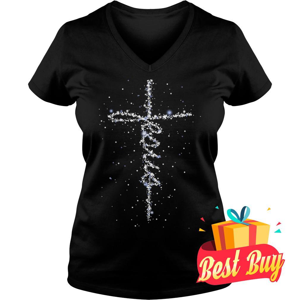 Best Price Jesus Galaxy Blink shirt Ladies V-Neck