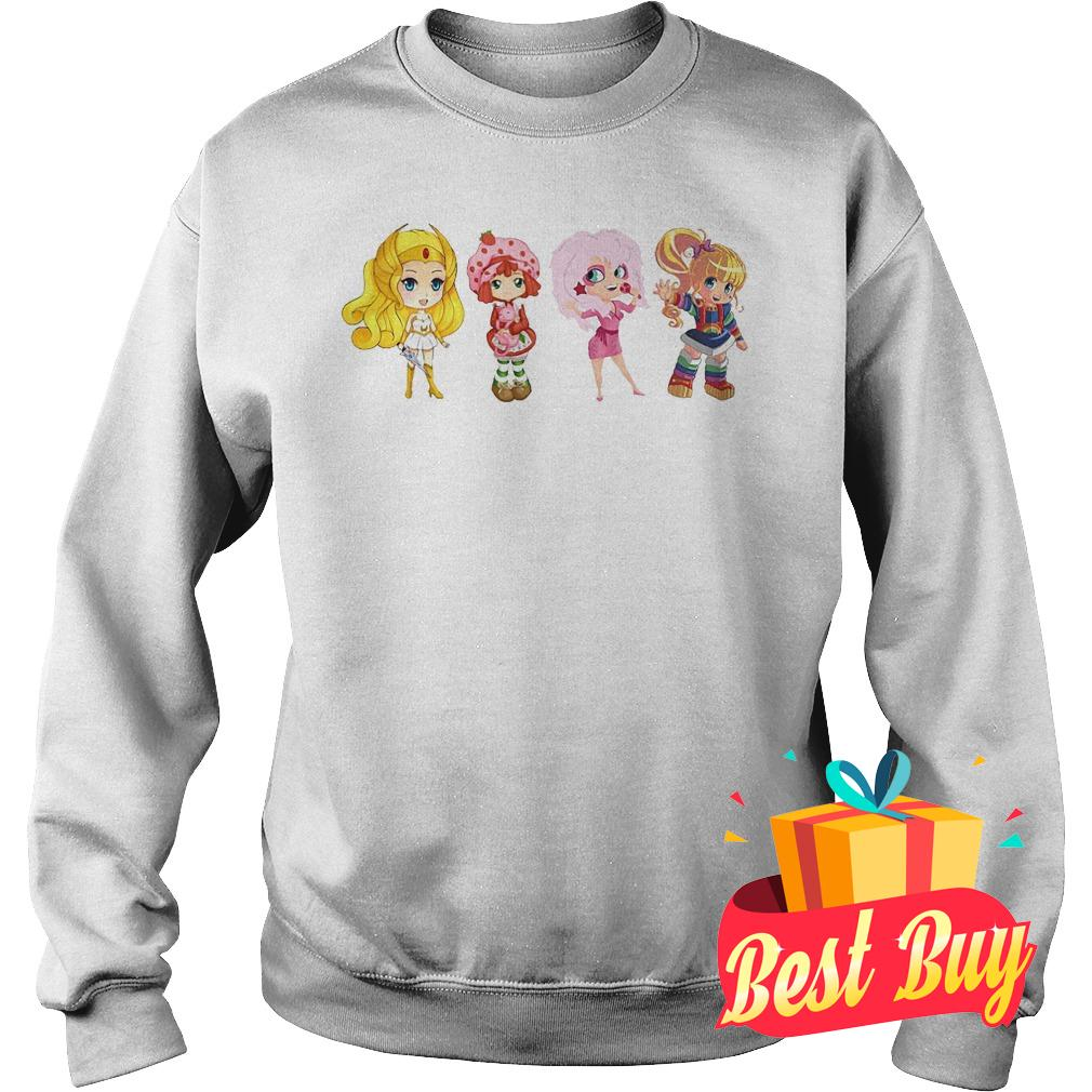 Best Price Shira Strabery Shortcake Jem Rainbow Brigh Best Friends Ever shirt Sweatshirt Unisex