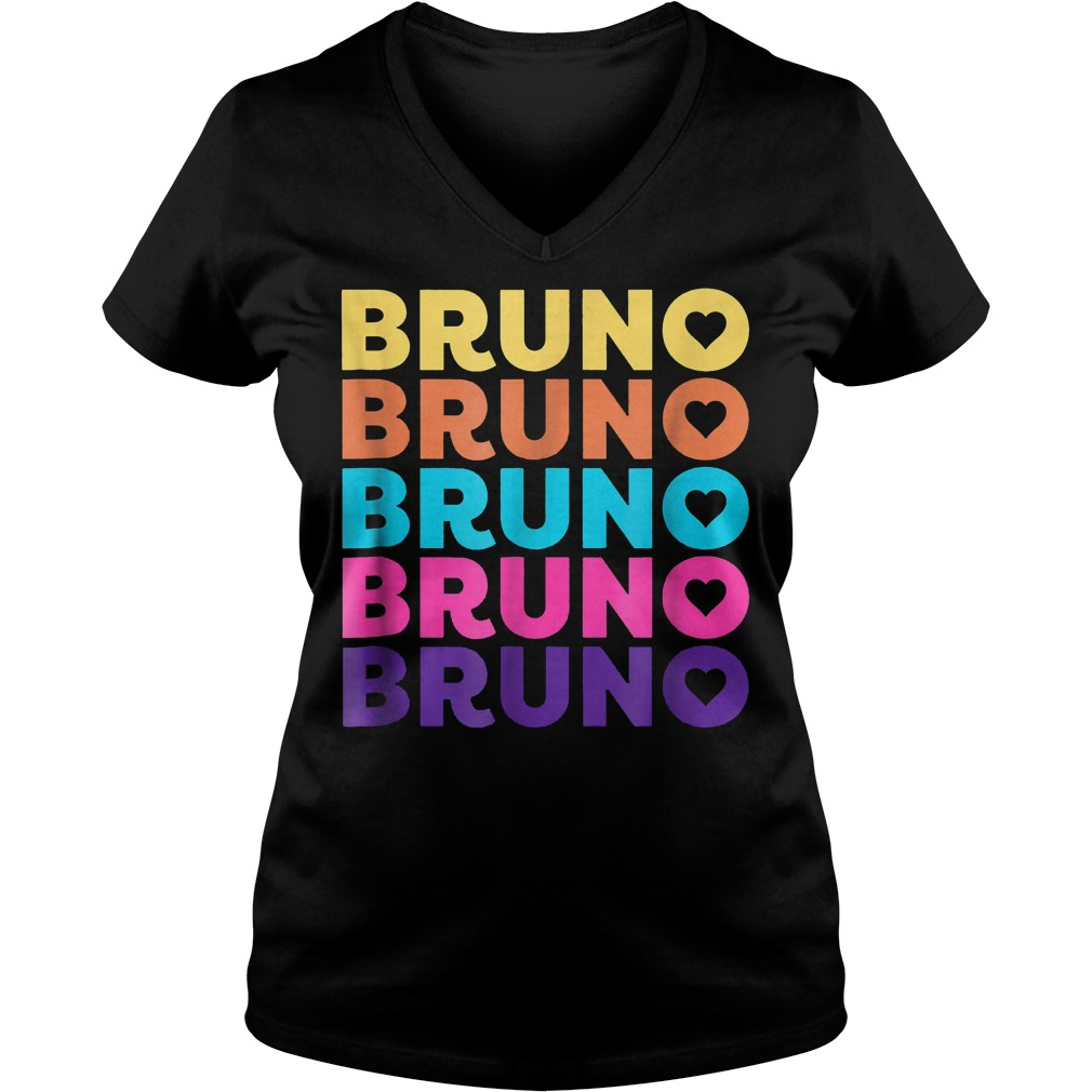 Love Heart Bruno 70ies Style Shirt Ladies V-Neck