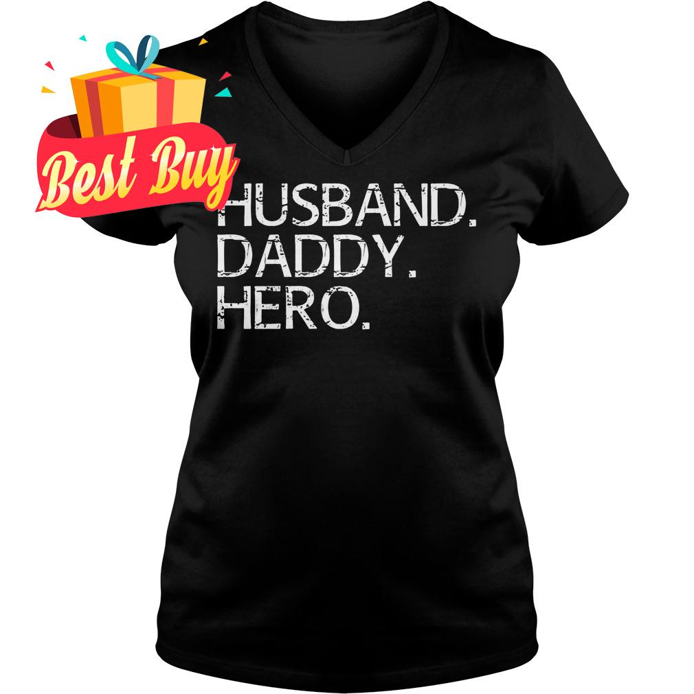 Official Husband Daddy Hero shirt Ladies V-Neck