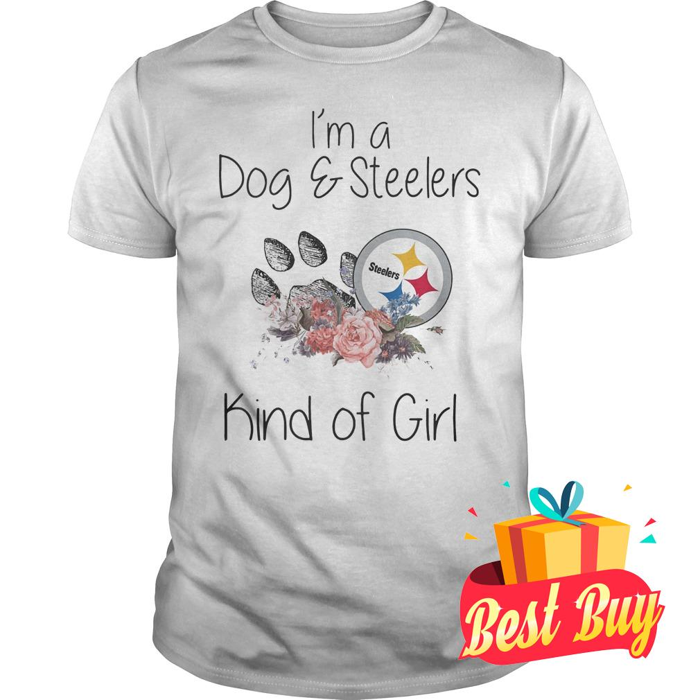 Official I'm a Dog Steelers kind of girl shirt