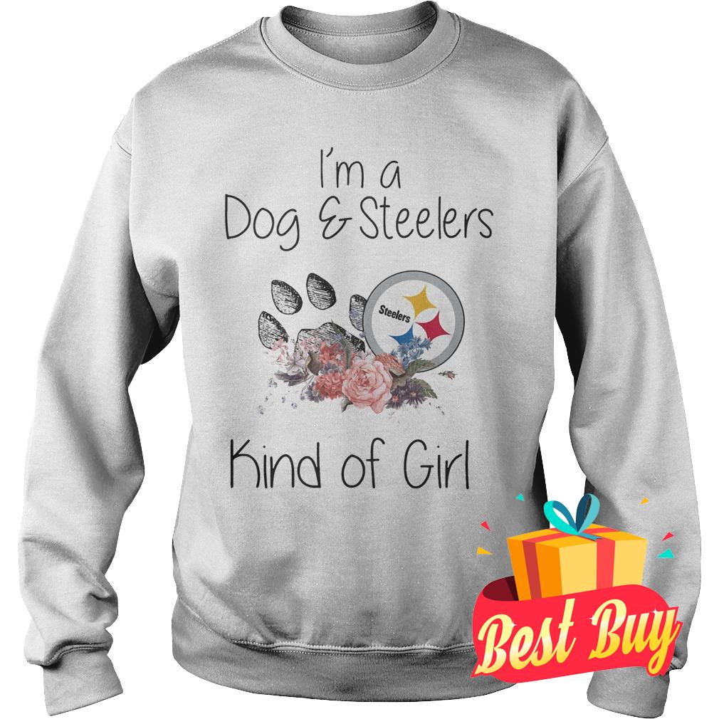 Official I'm a Dog Steelers kind of girl shirt Sweatshirt Unisex