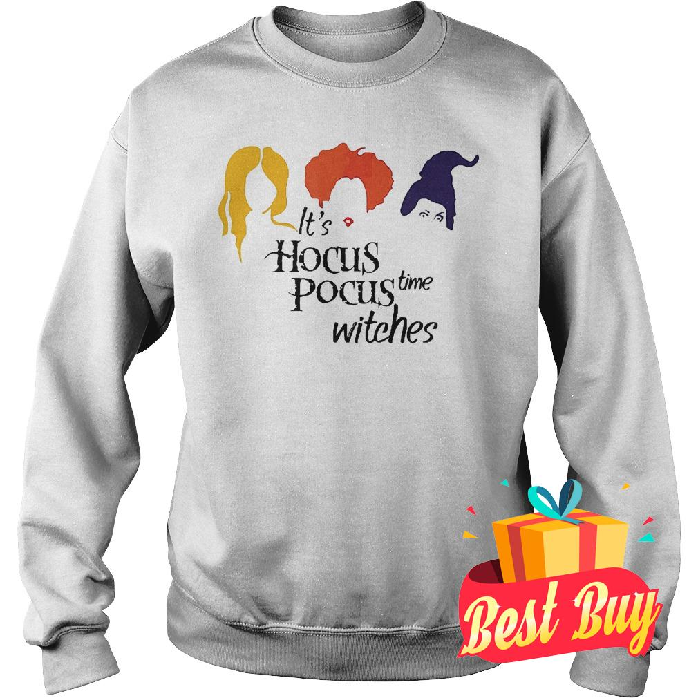 Official It's hocus pocus time witches shirt Sweatshirt Unisex