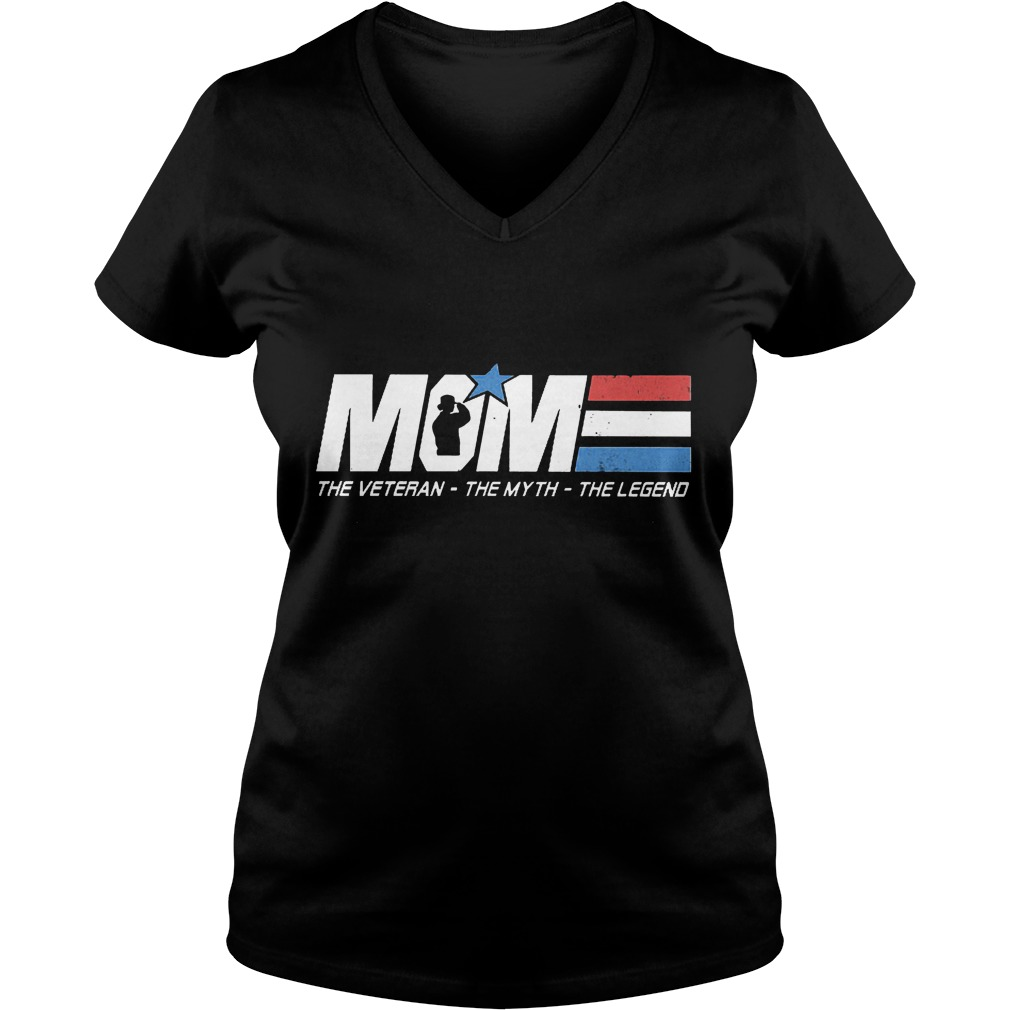 Official Mom - The Veteran The Myth The Legend Shirt Ladies V-Neck