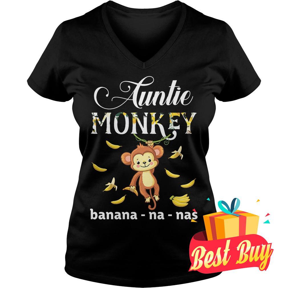 Original Auntie Monkey banana Shirt Ladies V-Neck