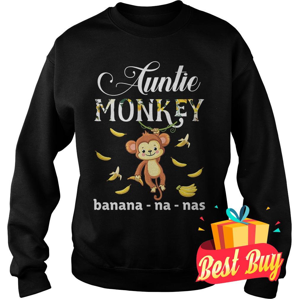 Original Auntie Monkey banana Shirt Sweatshirt Unisex