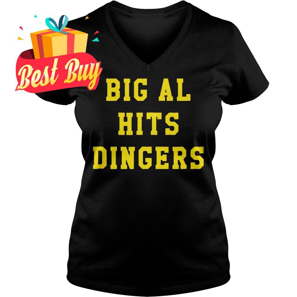 Original Big Al Hits Dingers shirt Ladies V-Neck