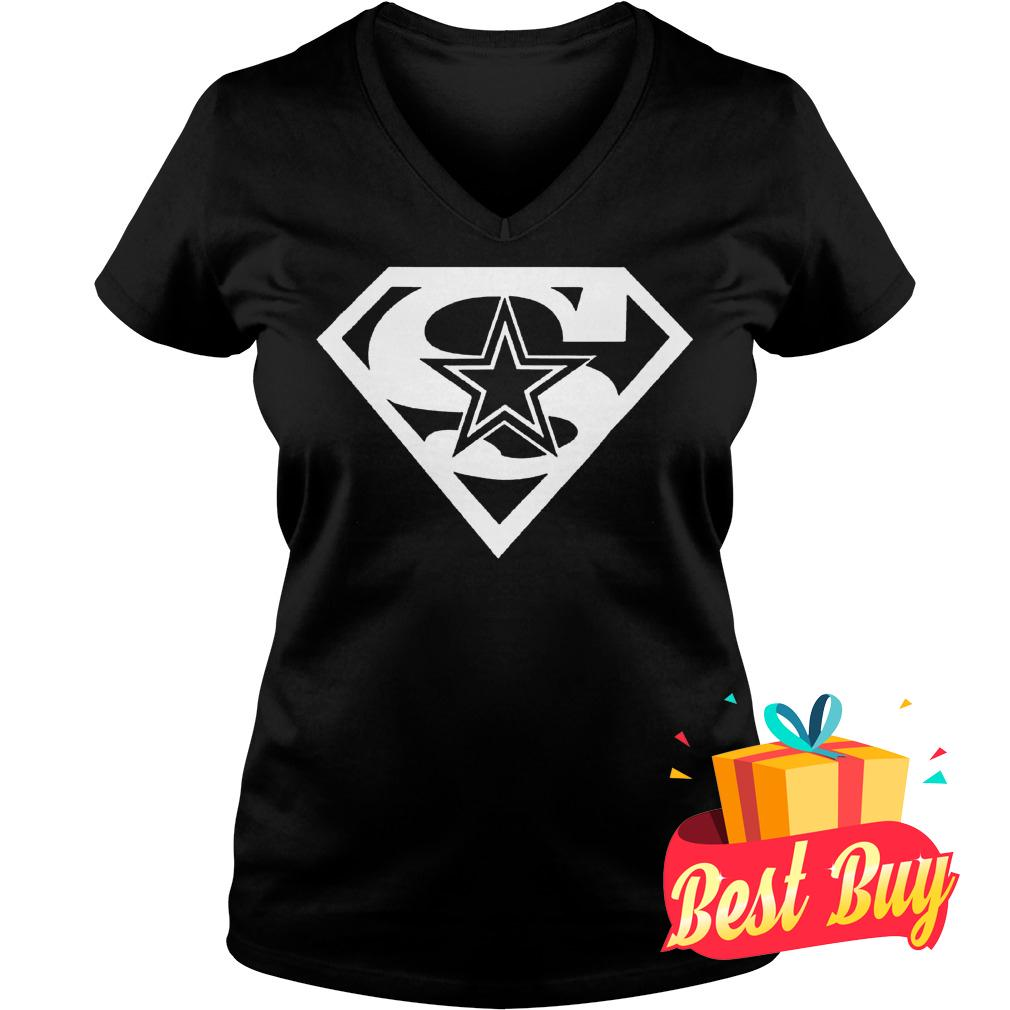 Original Dallas Cowboy Superman shirt Ladies V-Neck