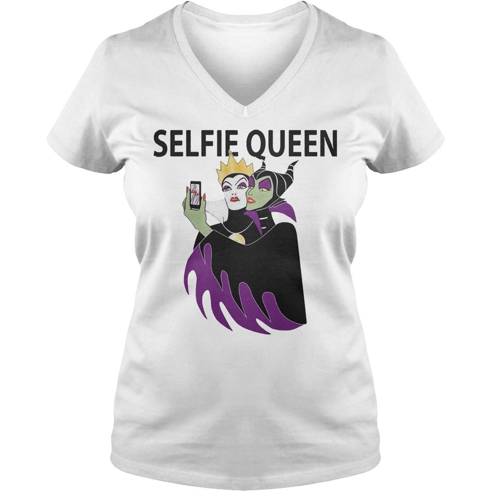 Original Grimhilde and Maleficent selfie queen Shirt Ladies V-Neck