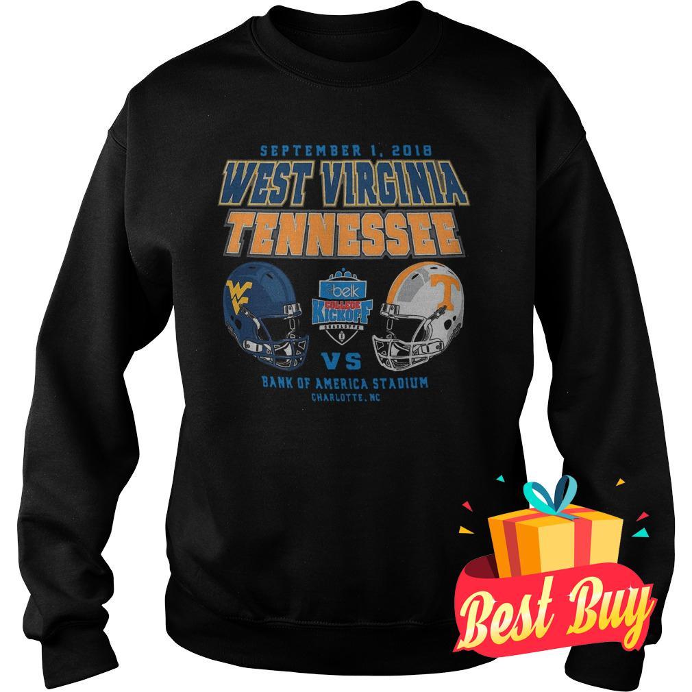 Original West Virginia Mountaineers vs Tennessee Volunteers 2018 Belk College Kickoff shirt Sweatshirt Unisex