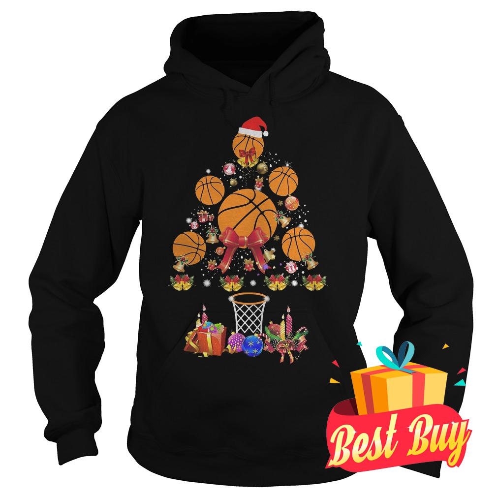 Premium Basketball Christmas tree shirt Hoodie