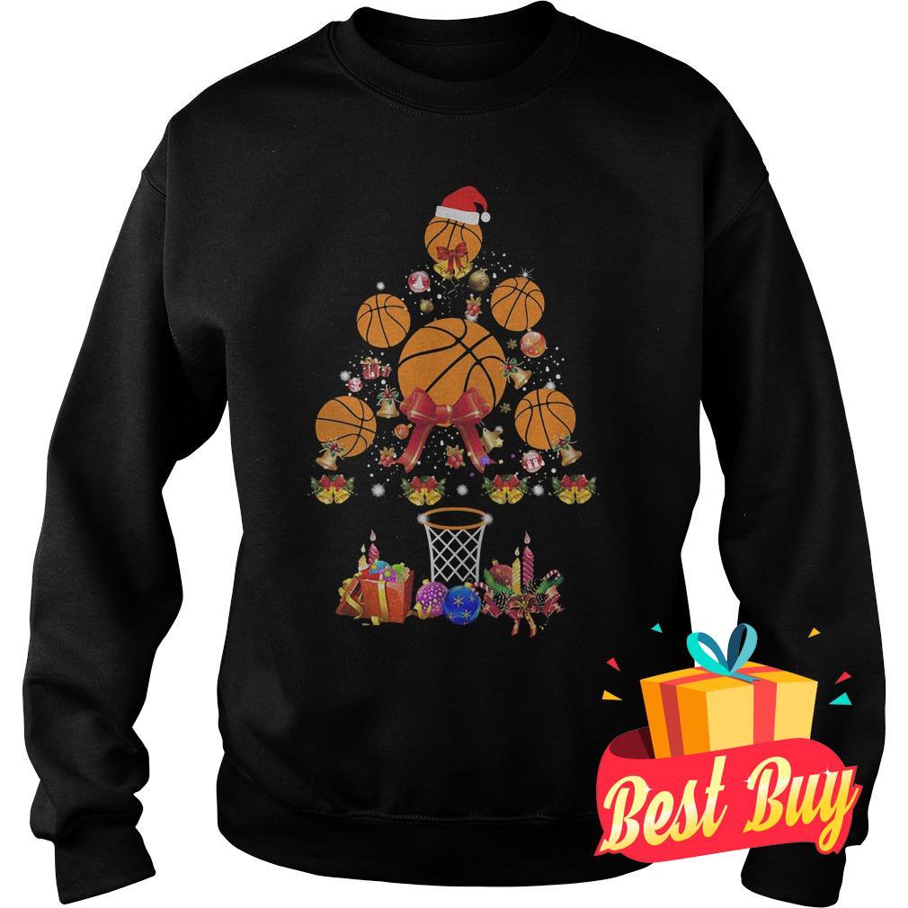 Premium Basketball Christmas tree shirt Sweatshirt Unisex