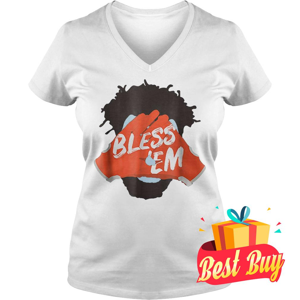 Premium Browns Football Bless Em Shirt Ladies V-Neck