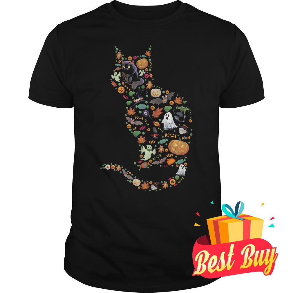 Premium Halloween Cat shirt