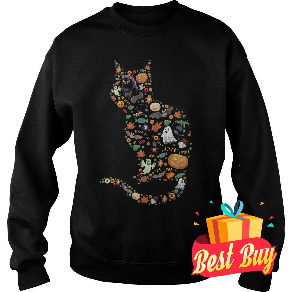 Premium Halloween Cat shirt Sweatshirt Unisex