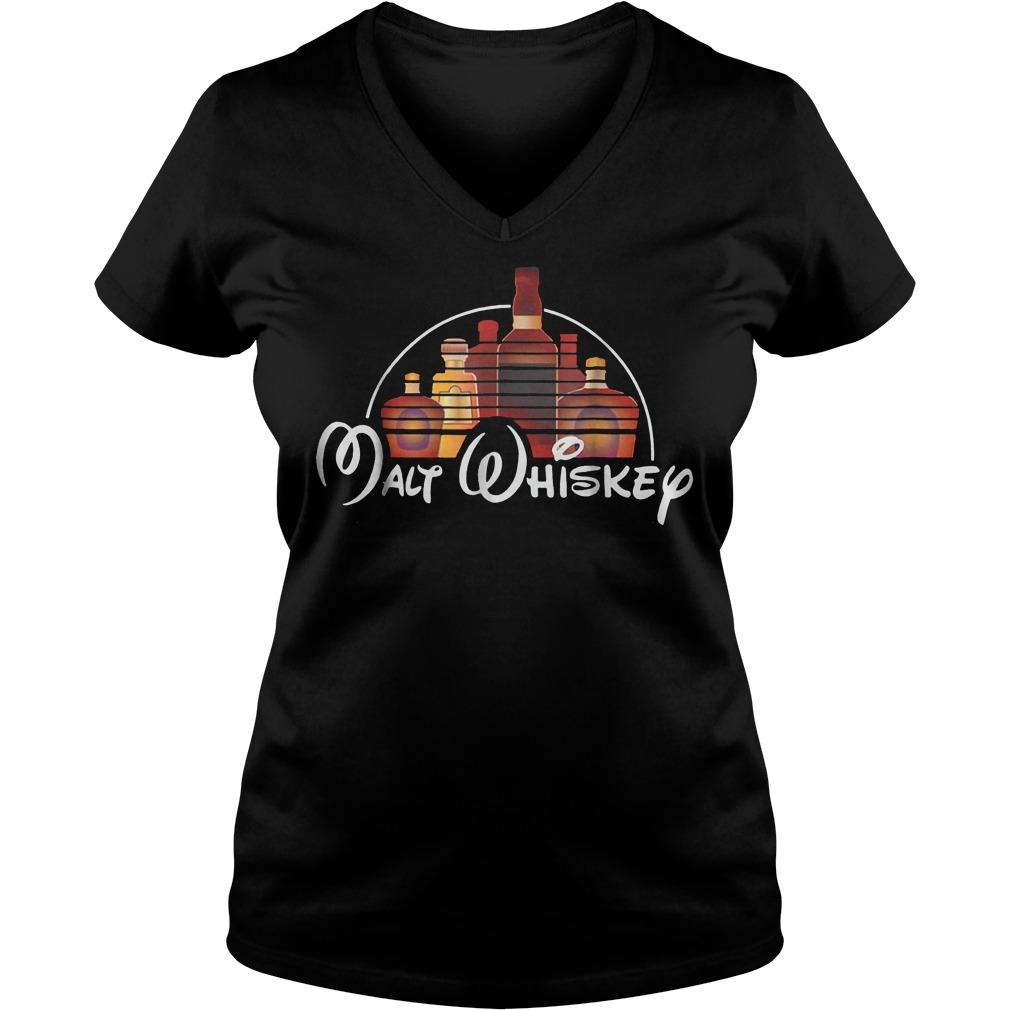 Premium Walt Disney Walt Whiskey Shirt Ladies V-Neck