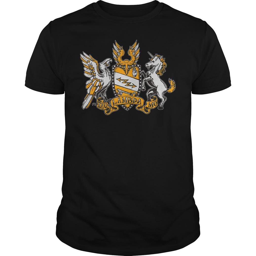 Tau Lambda Mu - TAM Crest T-Shirt Classic Guys / Unisex Tee