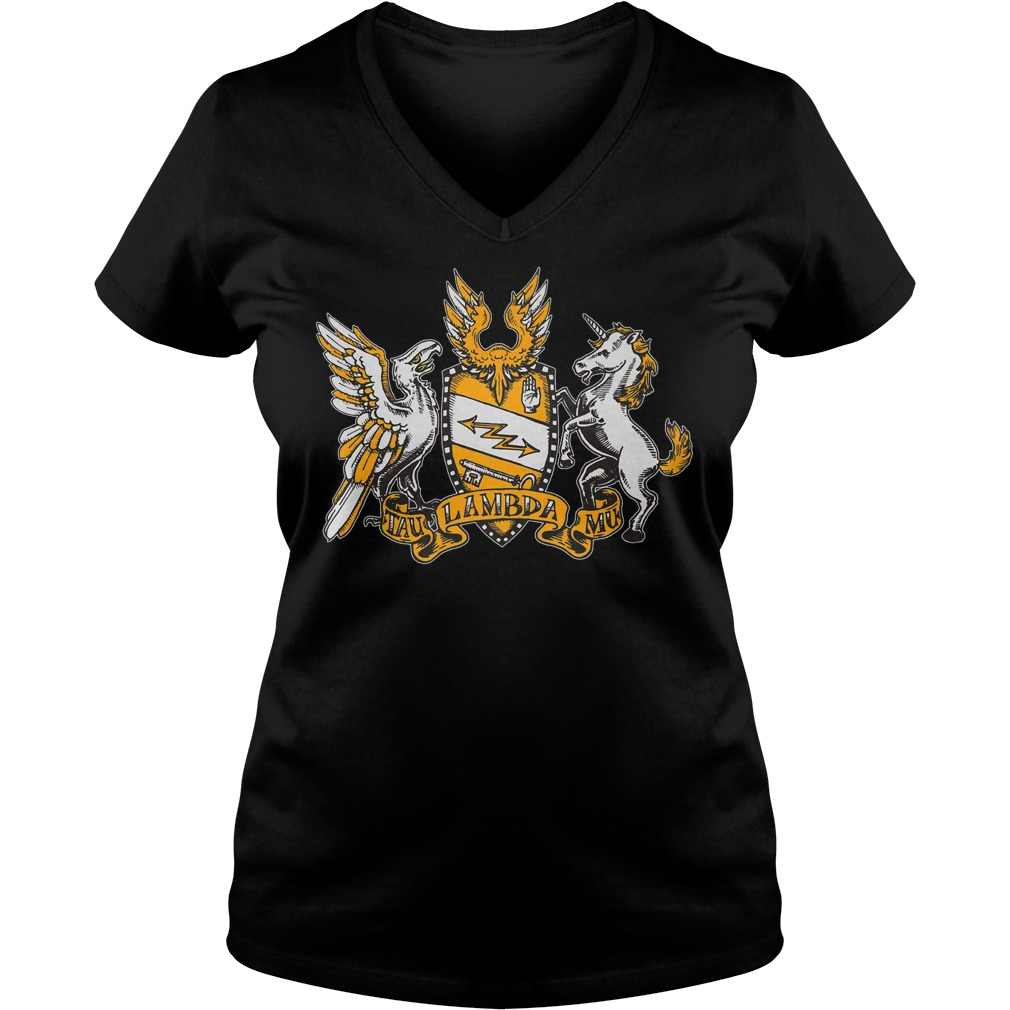 Tau Lambda Mu - TAM Crest T-Shirt Ladies V-Neck