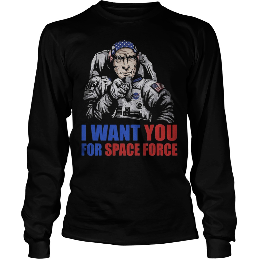 Uncle Sam – I Want You For Space Force T-Shirt Longsleeve Tee Unisex