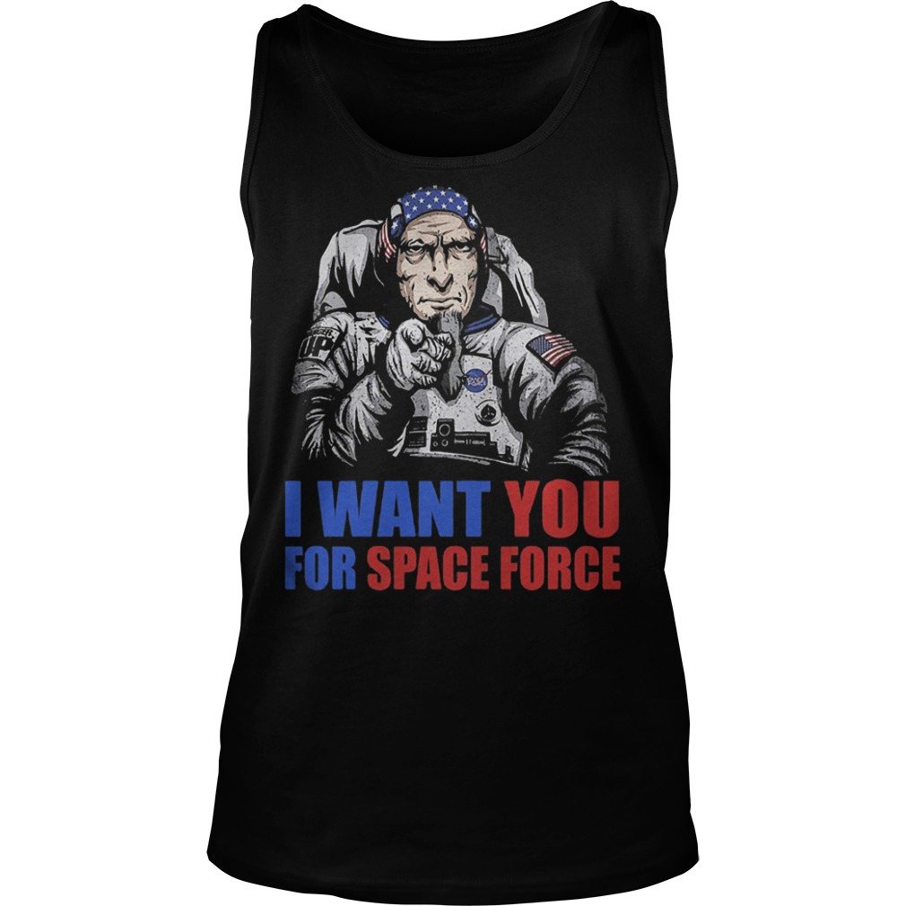 Uncle Sam – I Want You For Space Force T-Shirt Tank Top Unisex